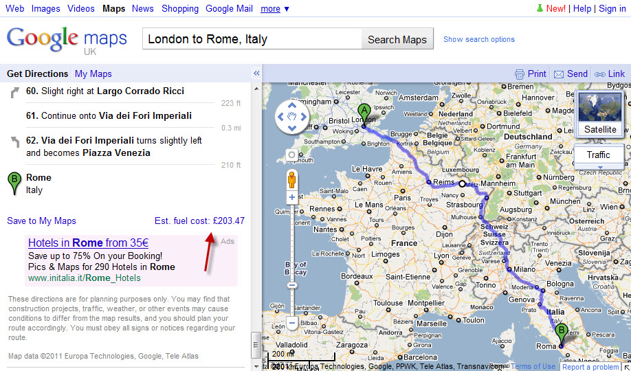 Fuel Cost Calculator >> Google Adds Fuel Cost Calculator To Maps In Europe Cost2go Blog